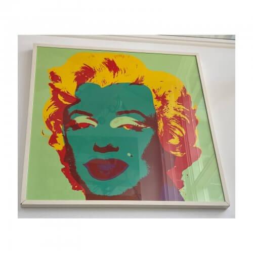 Marilyn Monroe silkscreen print by Sunday B Mornings