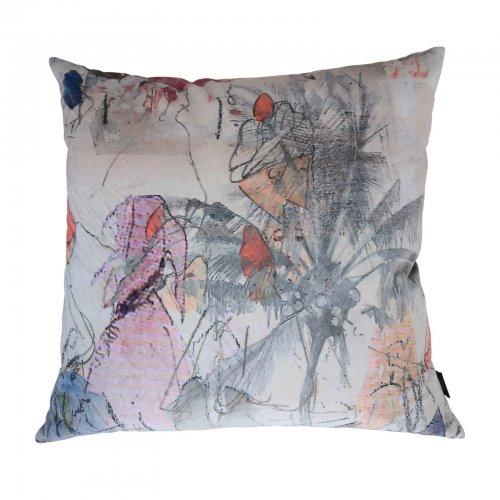 Velvet print cushions
