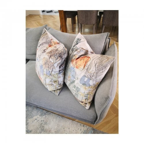 two design lovers Velvet Parisian Cushions