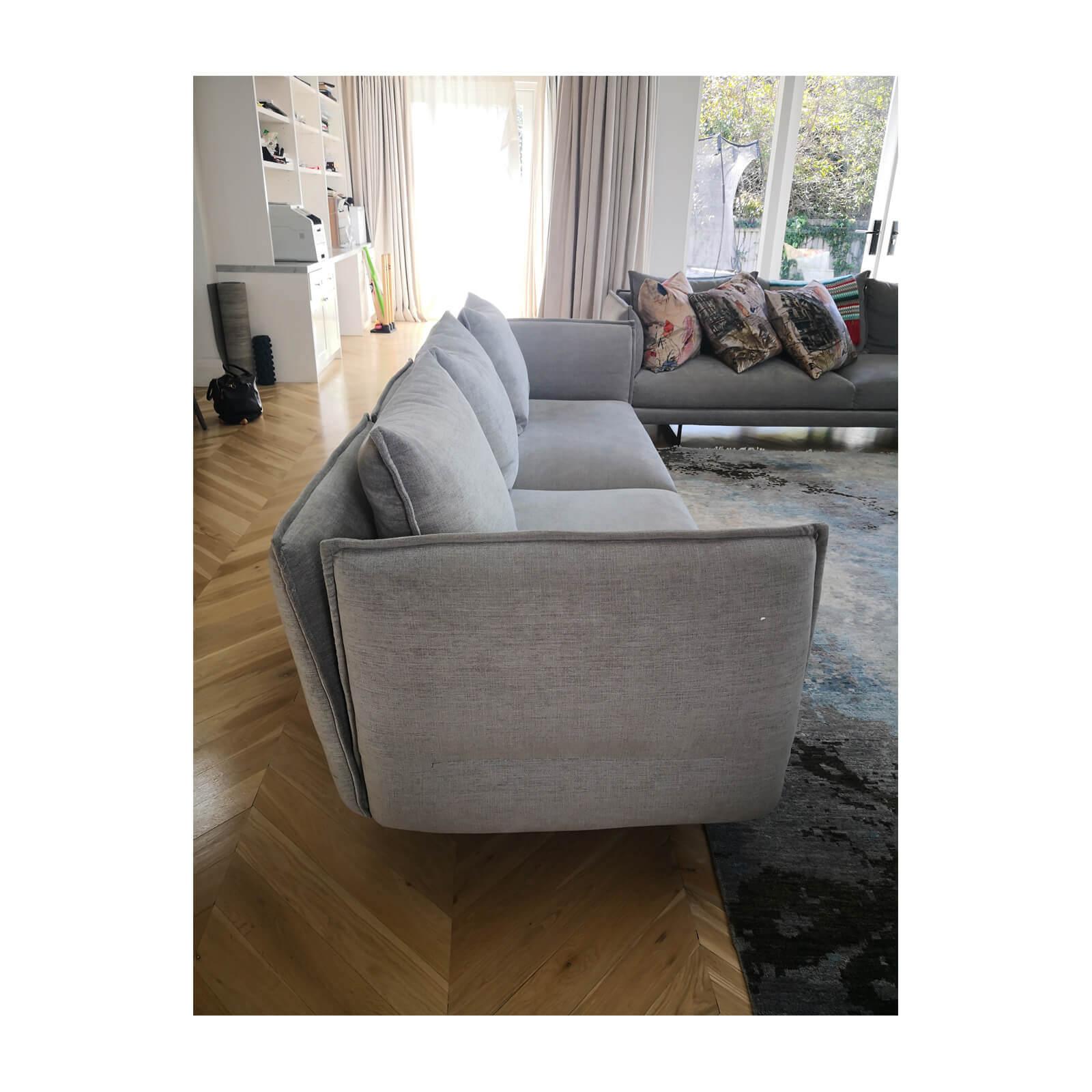 two design lovers Zaza King Living Sofa in Grey