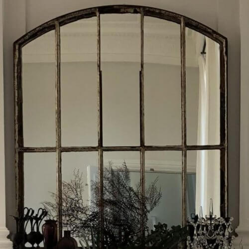 Antique french window mirror