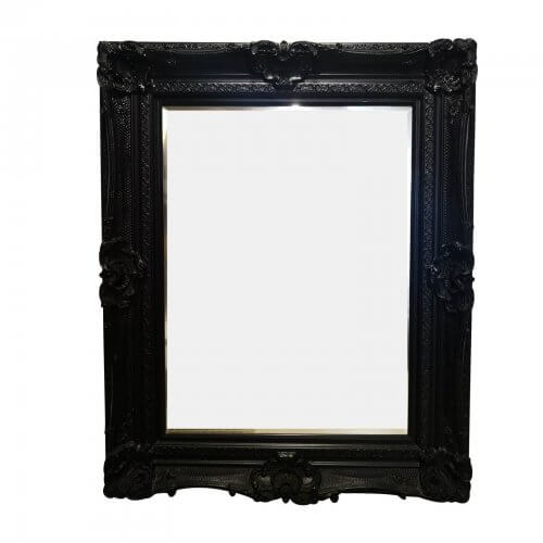 Black French style mirror