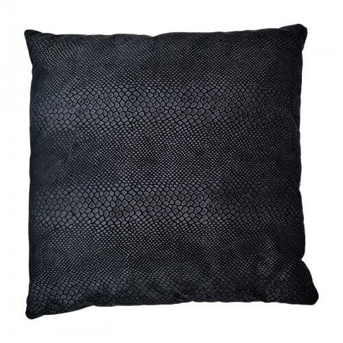 two design lovers black snakeskin cushion