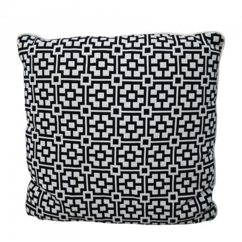 two design lovers black white geo cushion