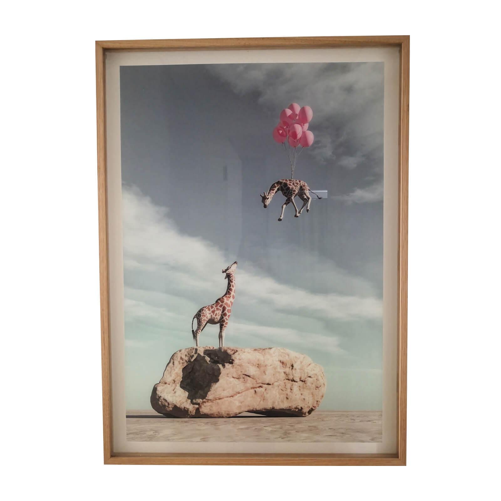 framed photomontage prints safari animals