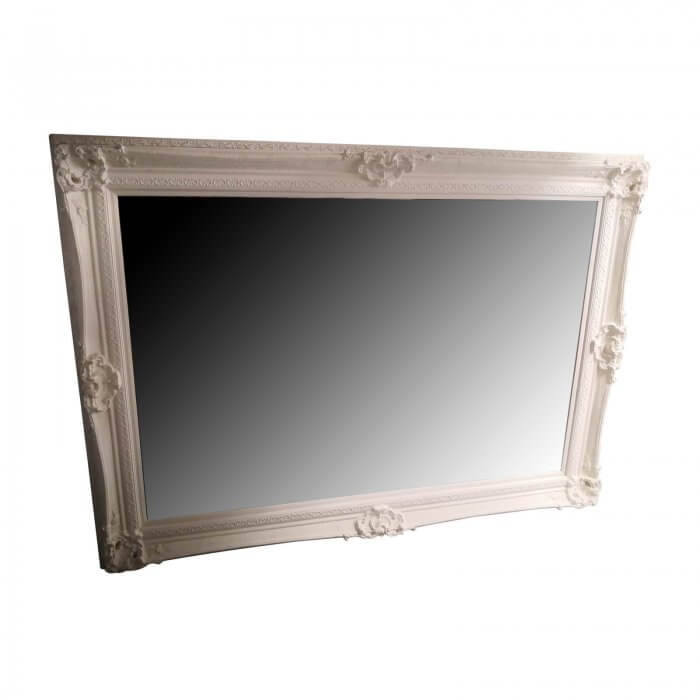 large white french mirror