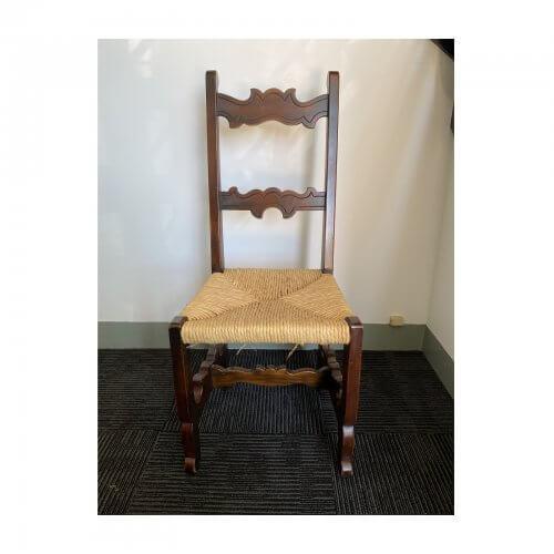 Vintage Spanish Rush Seat Dining Chairs