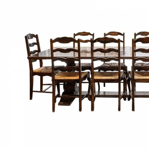 Large refectory dining table seats 12