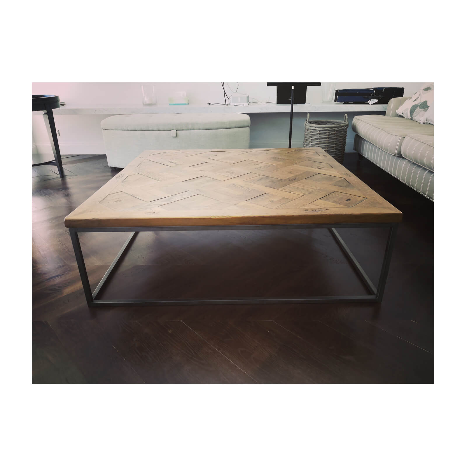 Coco Republic Coffee Table with parquetry