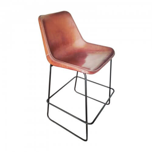 Coco Republic Drexel Leather Bar Stools