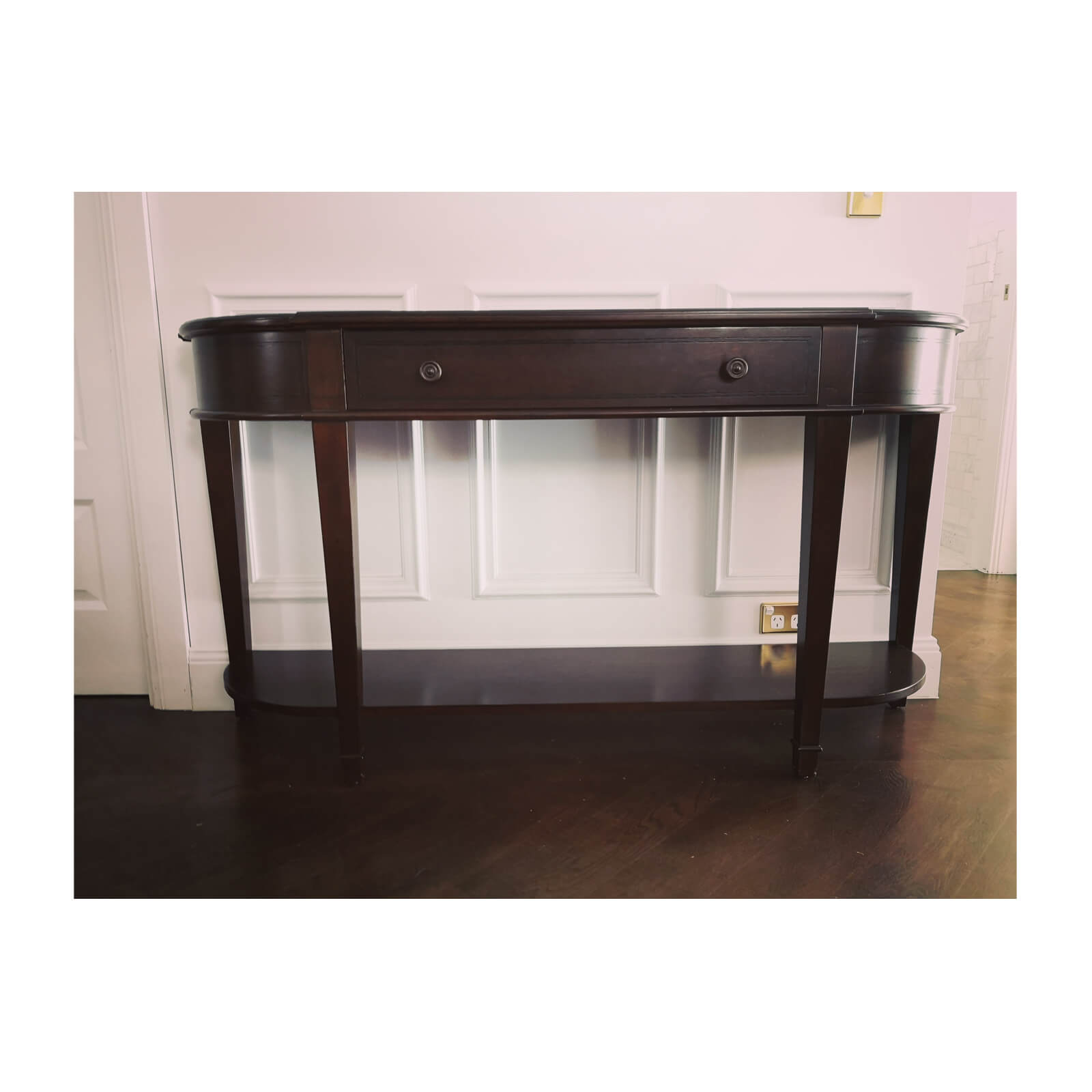 Max Sparrow Traditional Console with Curved Front