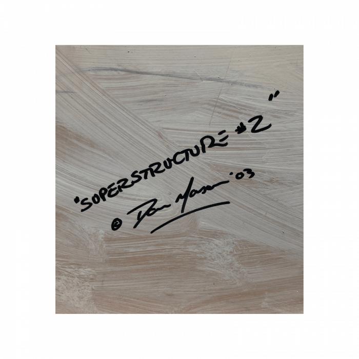 Two Design Lovers Dan Mason 'Superstructure 02'.signature back