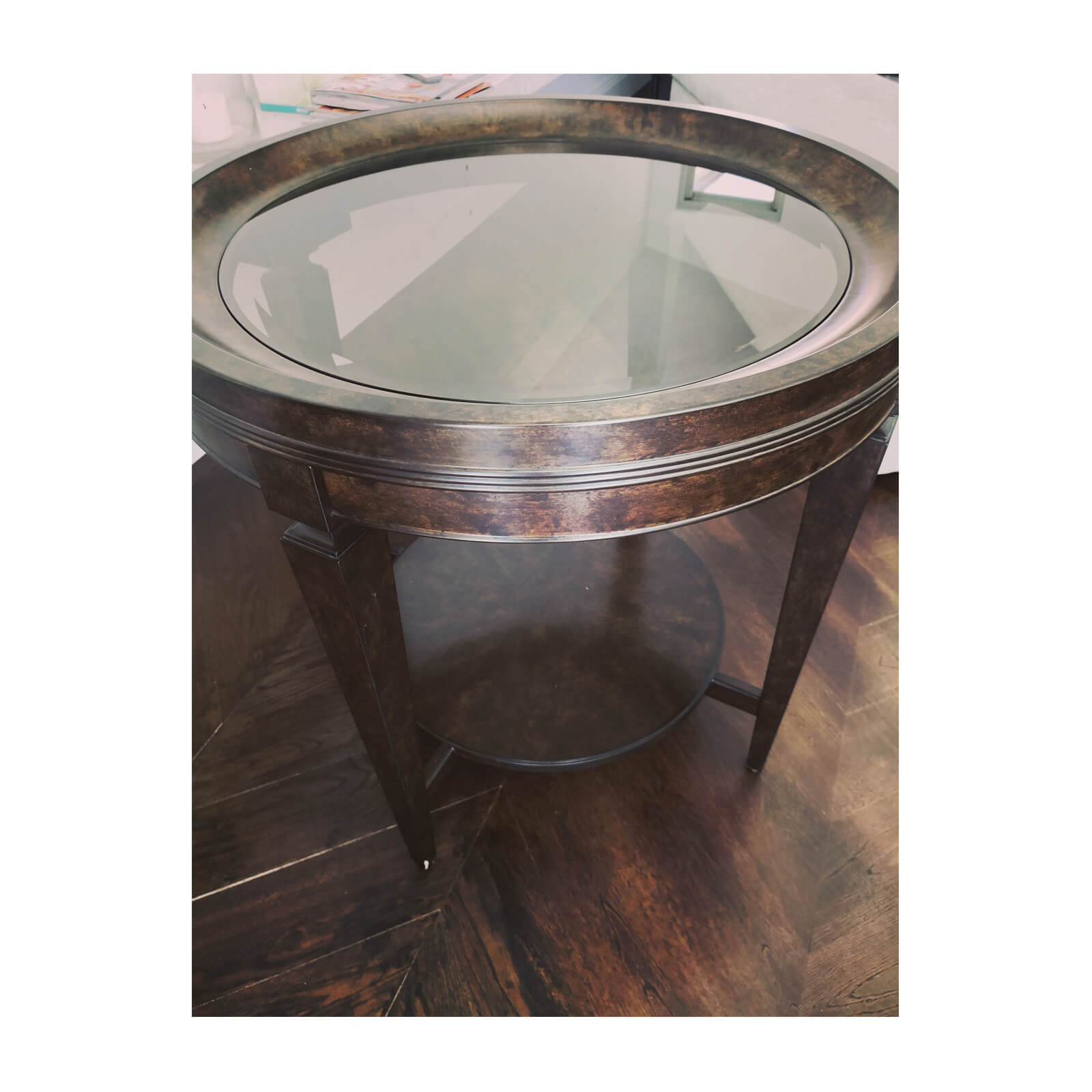 Max Sparrow Round side table with glass top