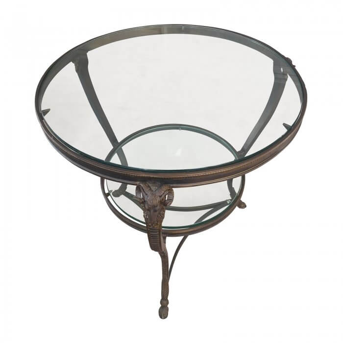 round glass side table main