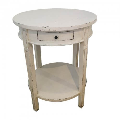 French Provincial Side Table Antique White