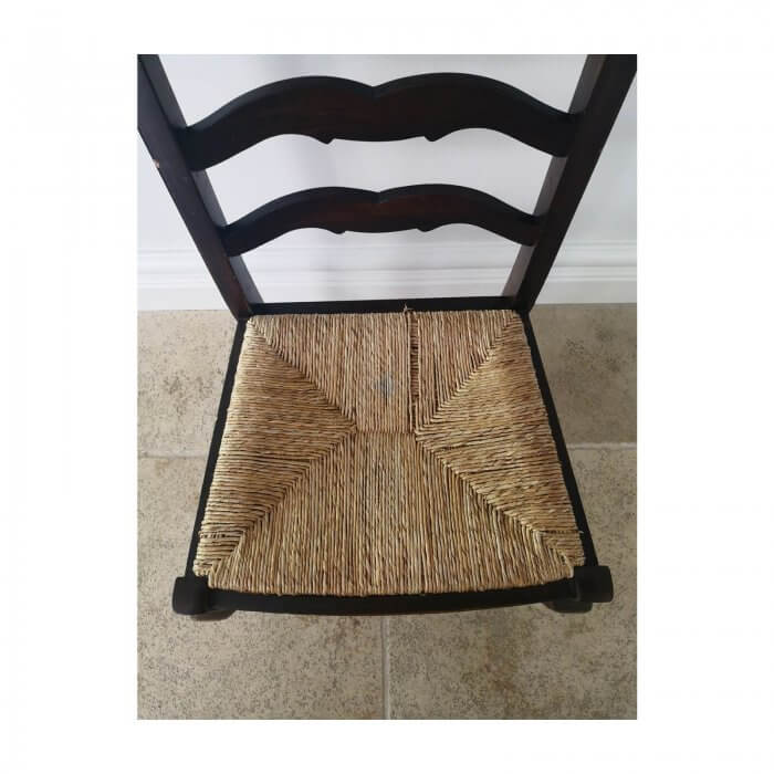 Ladder Back Dining Chairs with Rush Seat, 12 available