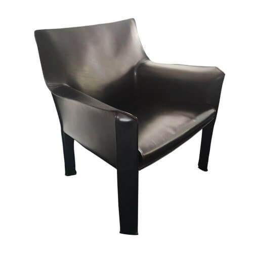 Cassina Cab arm chair black leather