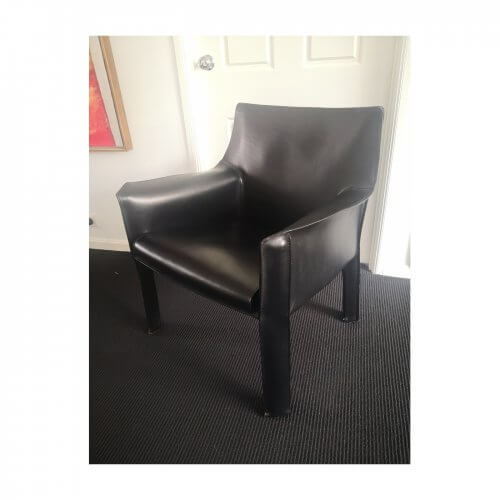 Cassina Cab arm chair black leather