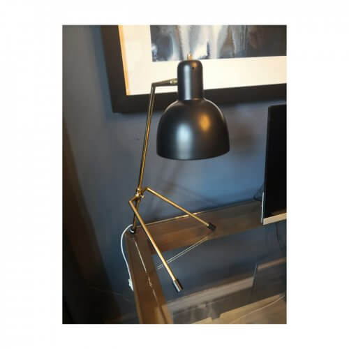 Coco Republic Kidron black desk lamp