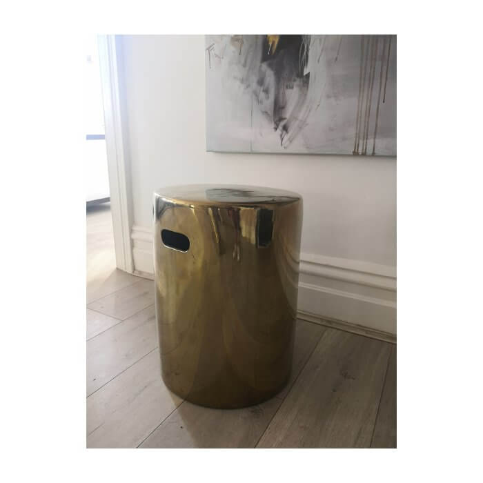 Rowe ceramic gold side table