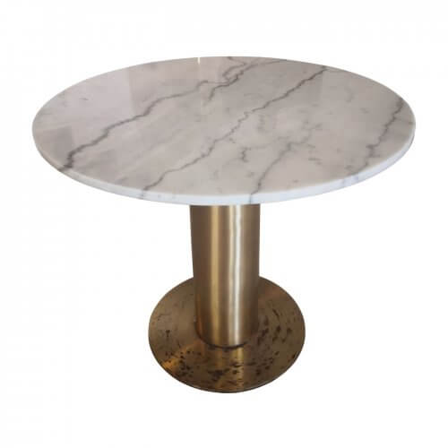 Tom Dixon Tube table with marble top