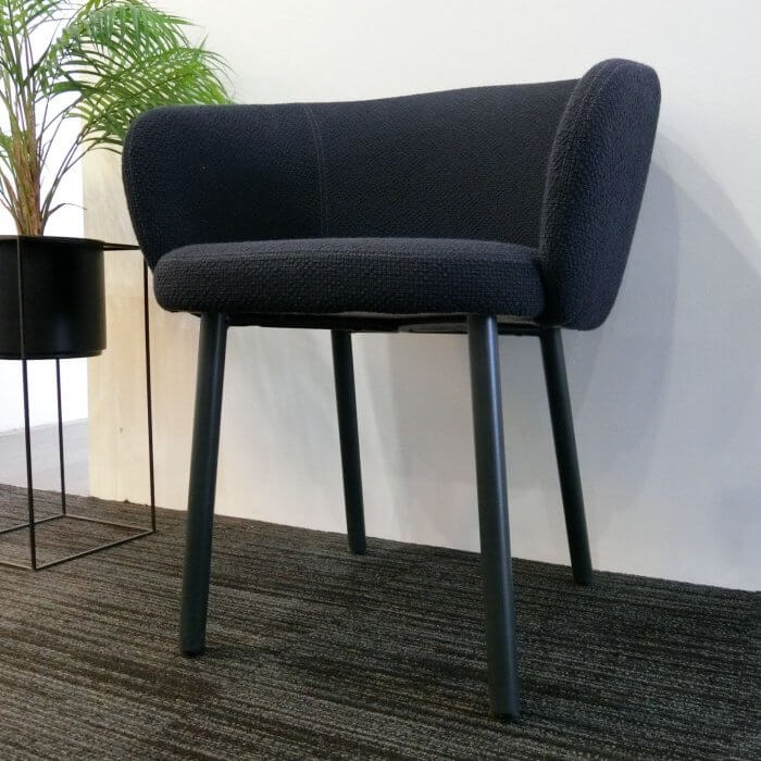 Expormim Huma upholstered dining chair in black