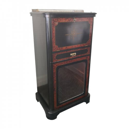 Antique burr walnut music cabinet