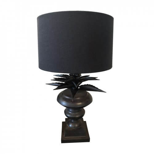 Black palm leaf lamp