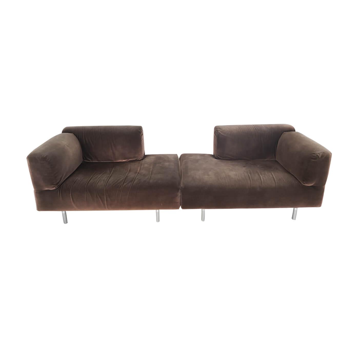 Cassina 250 Met Sofa brown velvet