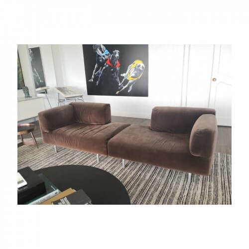 Cassina 250 Met Sofa brown velvet