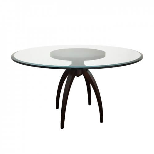 Phillip Silver Spider dining table with glass top