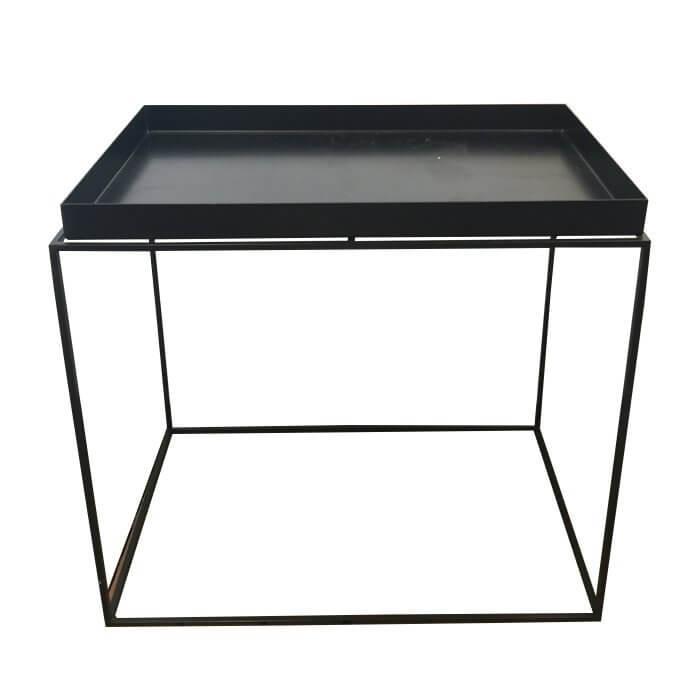 Hay tray side table black