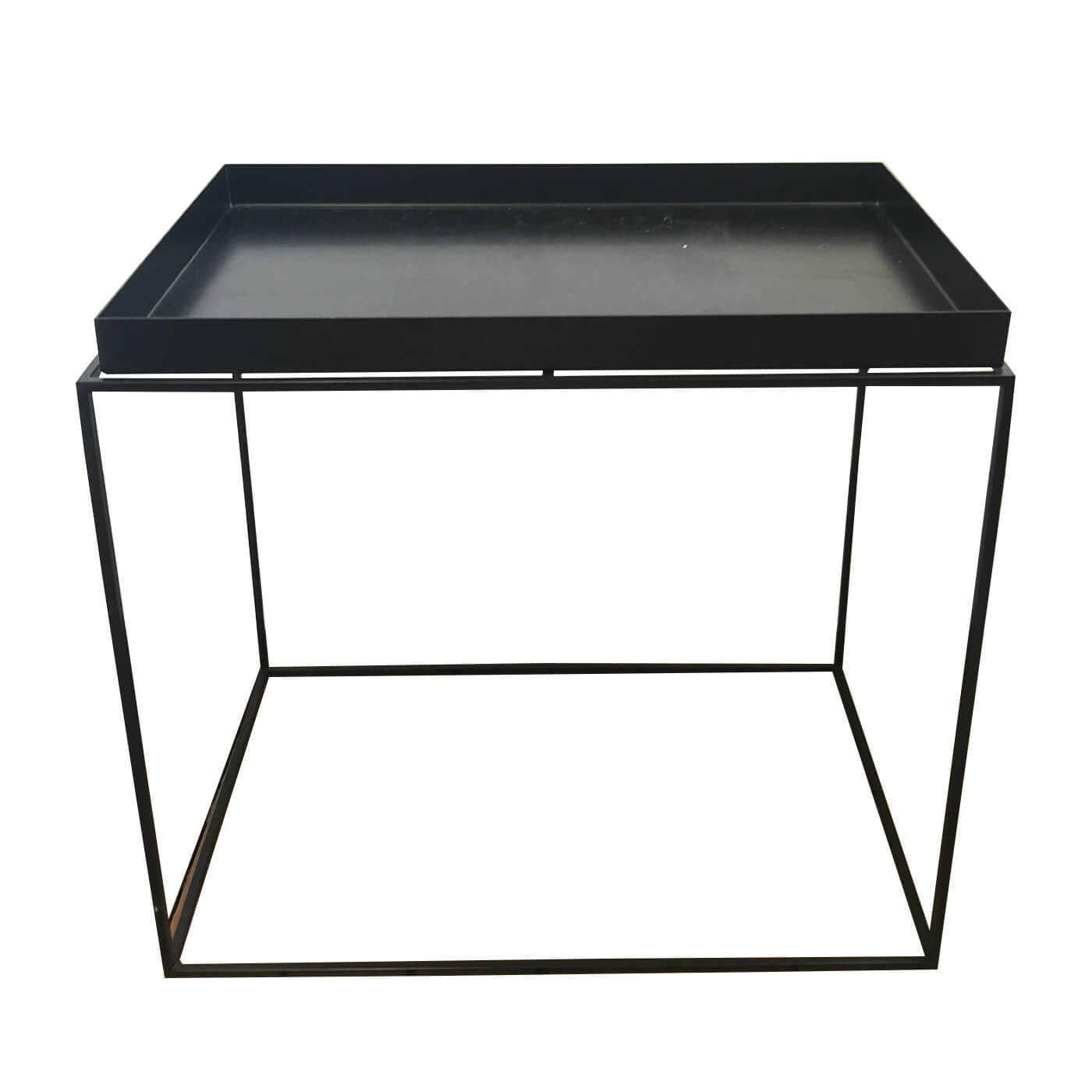 Hay tray side table black