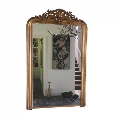 Large Antique Louis Philippe gilt mirror