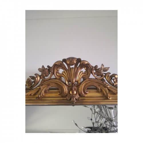 Large Antique Louis Philippe gilt mirror