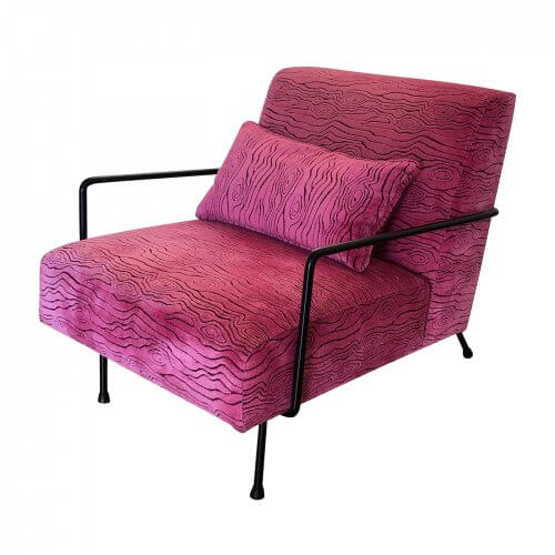 Norman & Quaine Grace chair in hot pink velvet