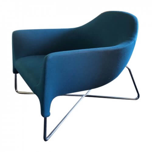 Poliform Bali blue armchair
