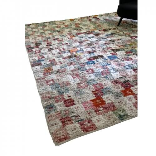 Robyn Cosgrove blue and pink patchwork rug