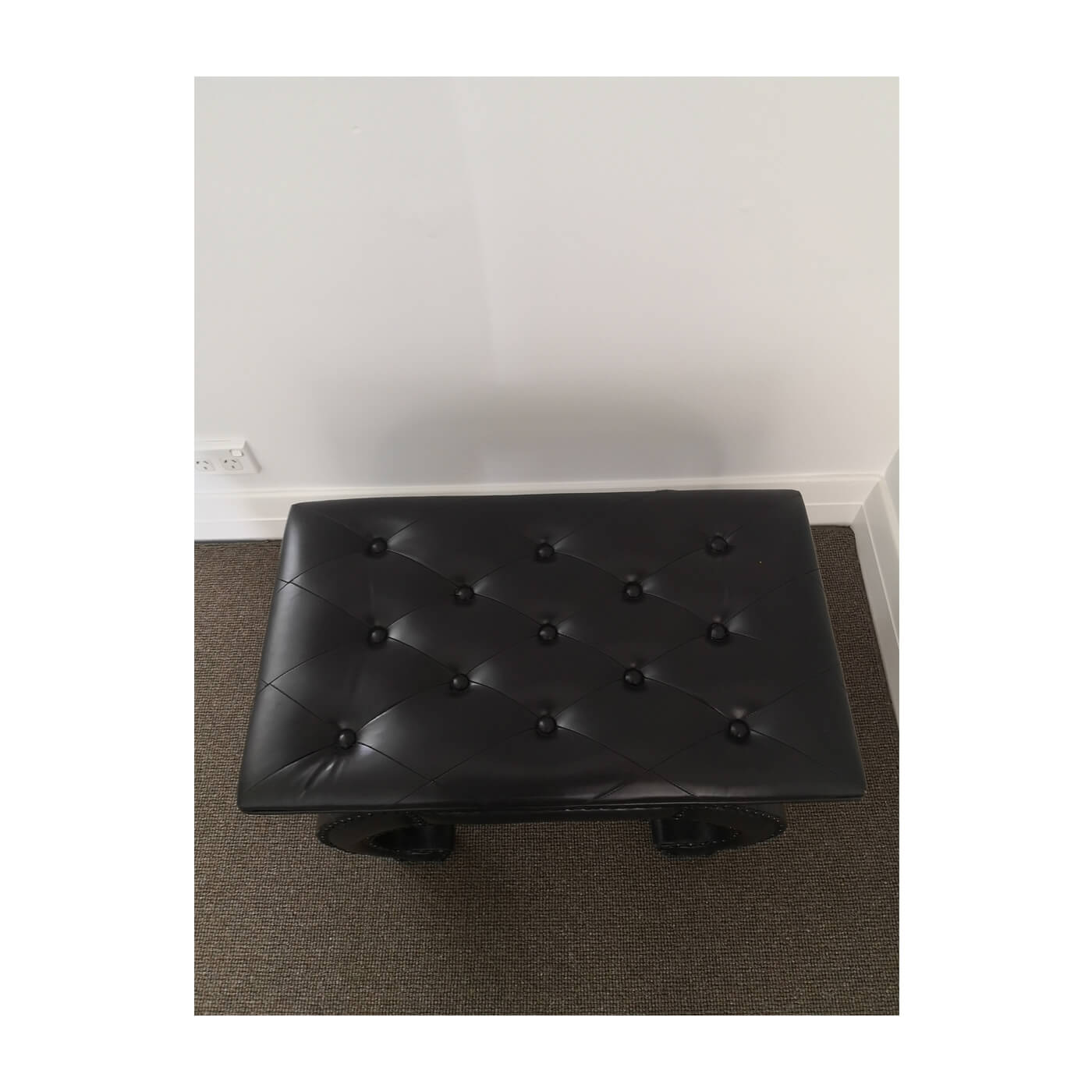 Studded leather foot stool