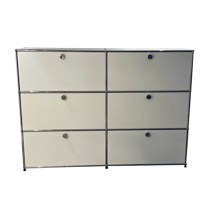 USM Haller 3x2 White Storage Unit