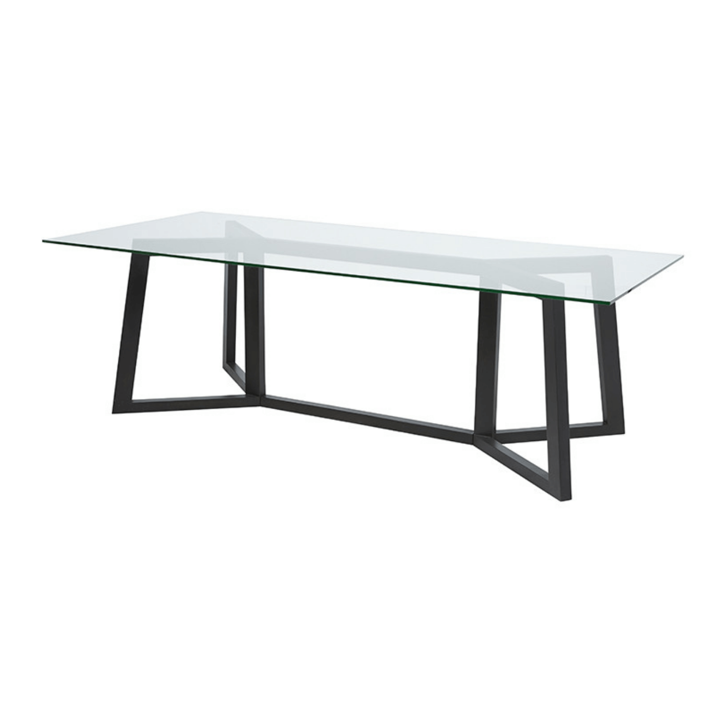 Two Design Lovers Globe West Geo glass dining table
