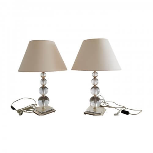 Bloomingdales table lamps with glass base
