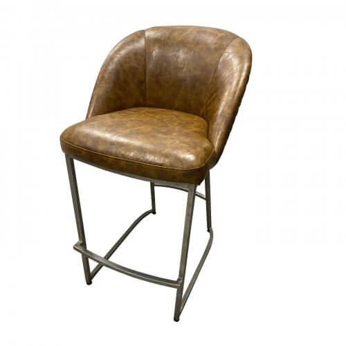 Two-Design-Lovers-Padded-leather-Bar-stools-X-2
