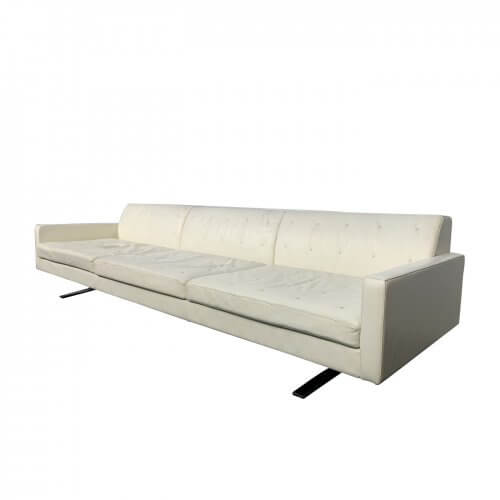 Poltrona Frau Kennedee Sofa in Cream leather