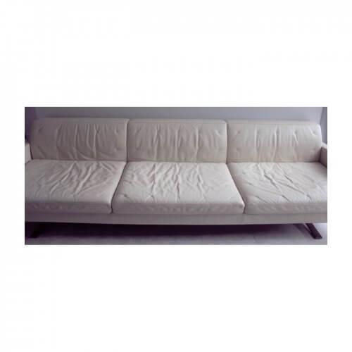Poltrona Frau Kennedee Sofa in Cream leather