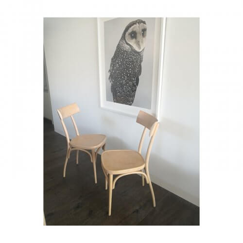 Thonet Hermann bentwood dining chairs in natural finish, set of 4