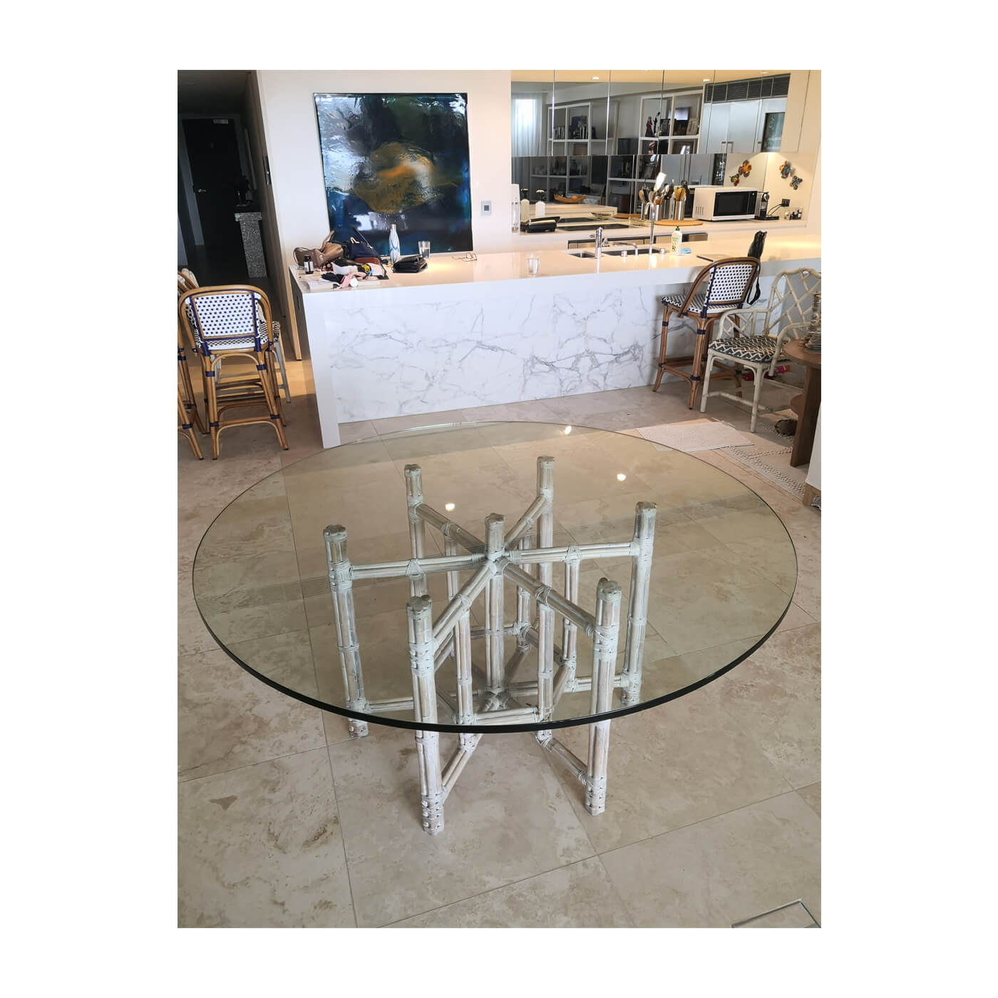 Vintage McGuire Bamboo dining table