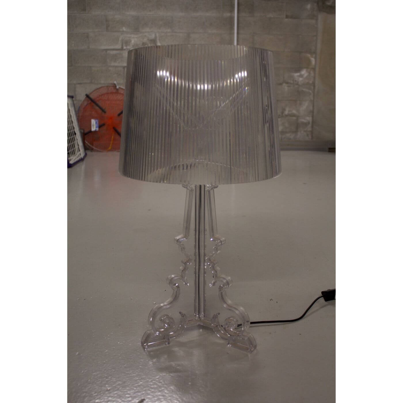 Kartell Bourgie table lamp in clear, second hand on Two Design Lovers