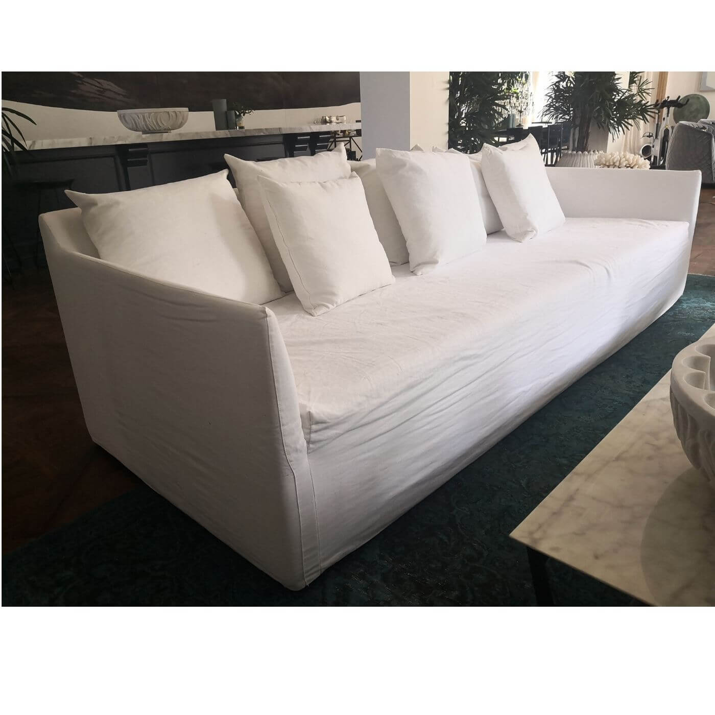MCM House Joe Sofa in white, second hand