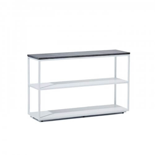 Reddie Furniture Suzy shelf unit white with stone top, on sale on Two Design Lovers